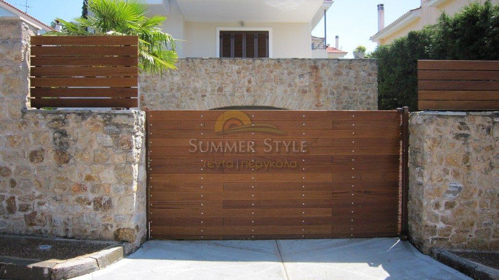 φράχτης ξύλινος iroco
