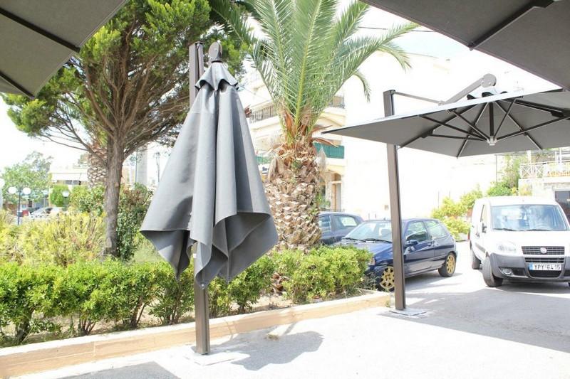 κρεμαστή ομπρέλα με κολώνα βαρέως τύπου